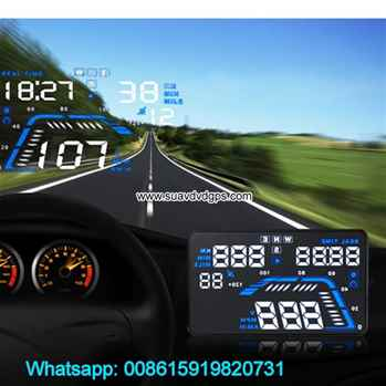 5.5inch Car GPS Hud Display Vehicle Speed Odometer Head Up Speedometer Projector
